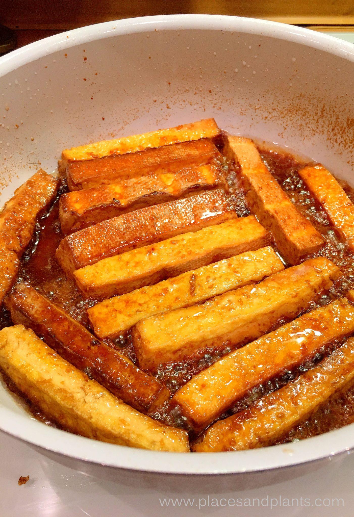 Glazurowane tofu