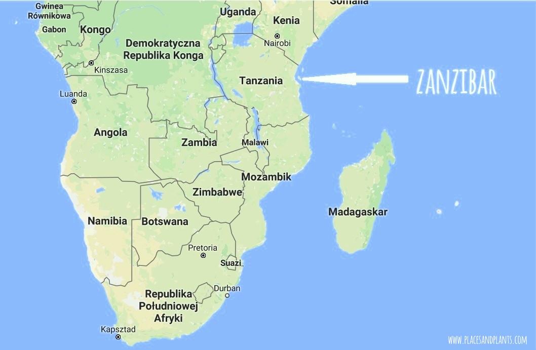 Zanzibar mapa