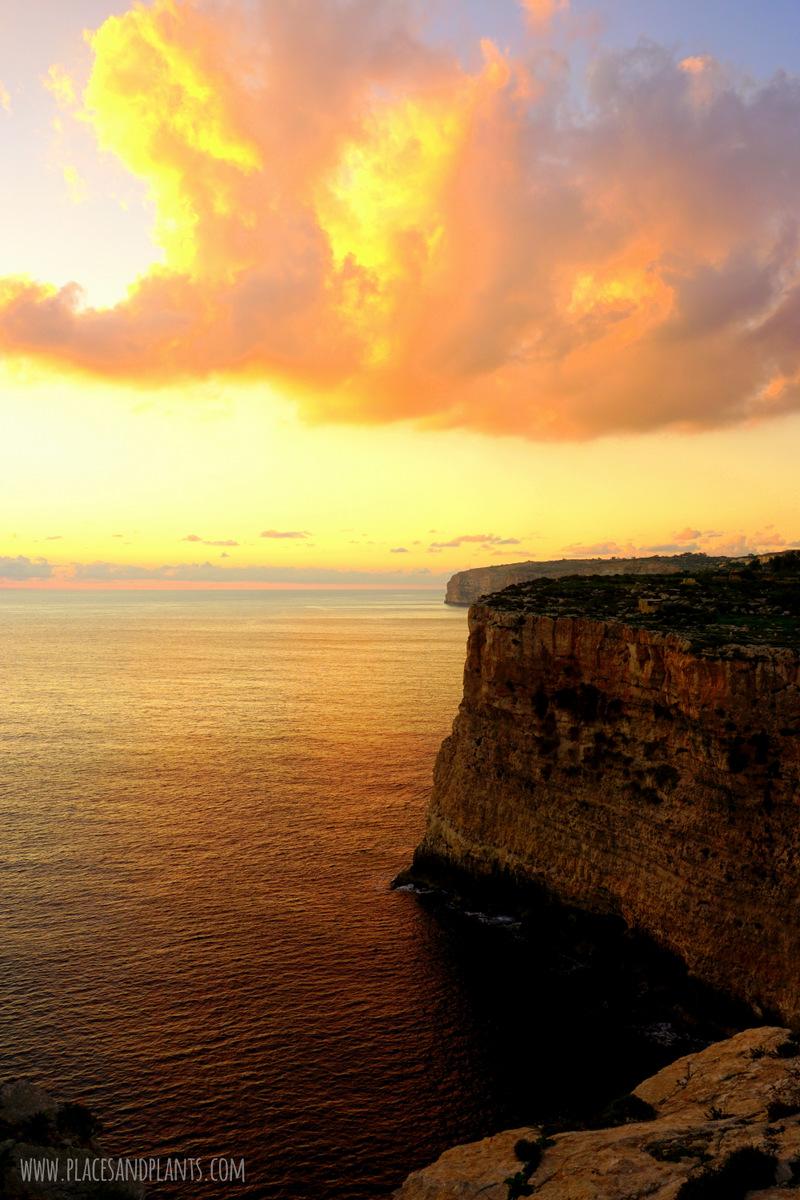 Miejsca na Malcie Klify Dingli Cliffs